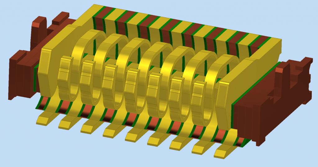 9 pad probe block CAD model