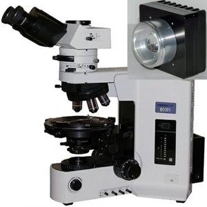 Olympus BX51 microscope with Nanodyne illuminator