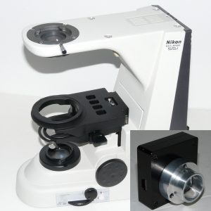 Nikon Eclipse 55i microscope and Nanodyne illuminator