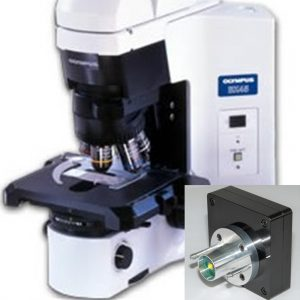 Olympus BX45 microscope with Nanodyne replacement illuminator
