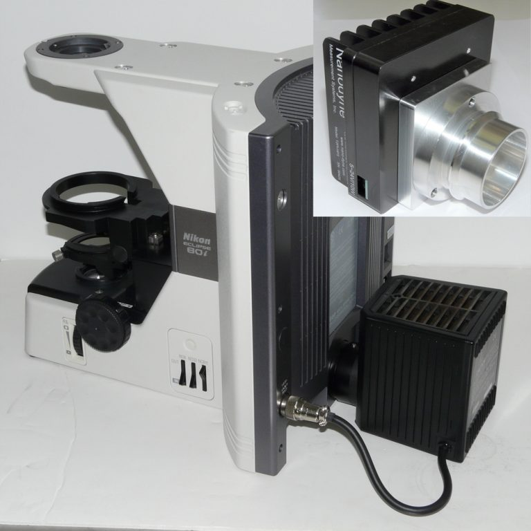 Nikon Eclipse 80i microscope with Nanodyne illuminator