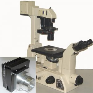 Nikon Diaphot 200 and 300 microscope with Nanodyne replacement for 100W illuminator