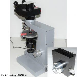 Leitz Wetzlar SM LUX POL microscope with Nanodyne illuminator
