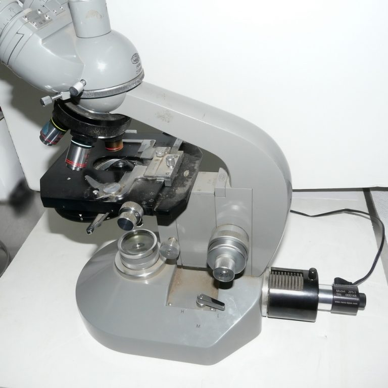 Olympus FH microscope with Nanodyne illuminator